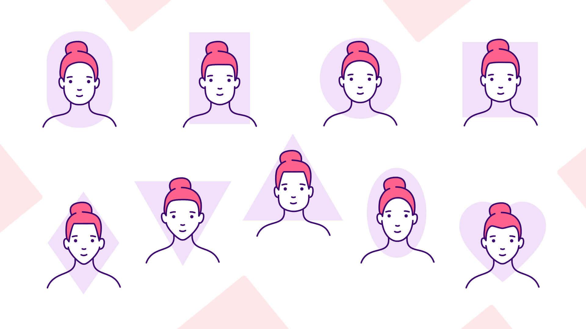 Mosolytervezés - arcformák